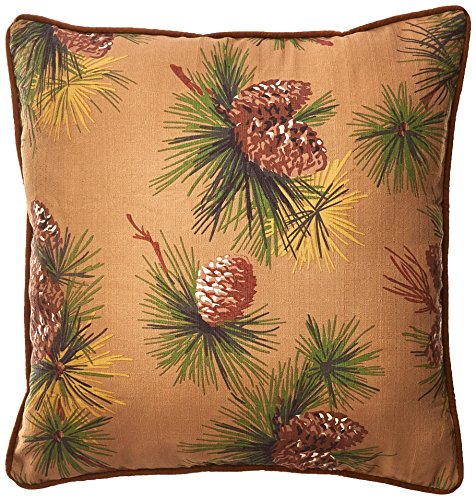 HiEnd Accents Crestwood Western Euro Sham (Collection Pine Bedding Cone)