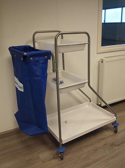 RUBBERMAID carrito de limpieza con 3 bandejas + 120L saco carro carretilla para coche