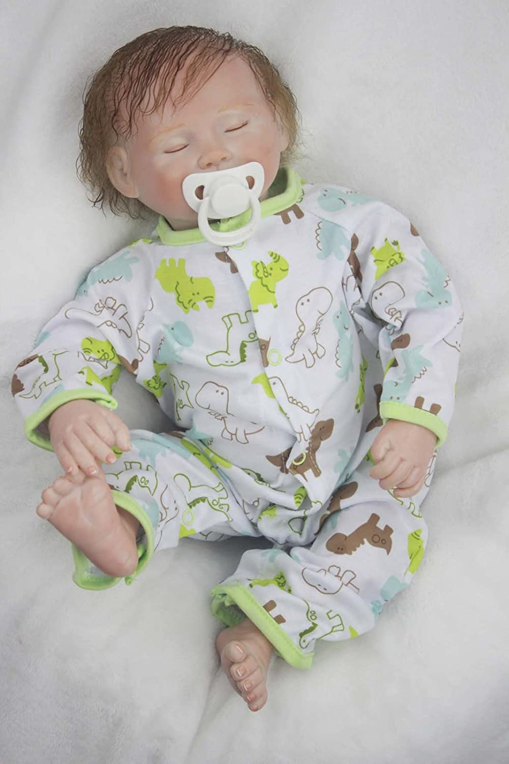 Sweet Dreams Dino Terabithia Rare Alive Reborn Baby Doll,18 inch Gentle Touch Vinyl Like Silicone Baby Doll