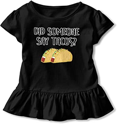NMDJC CCQ I Dont Wanna Taco Bout It Baby Skirts Cute Kids T Shirt Dress Cotton Flounces Skort