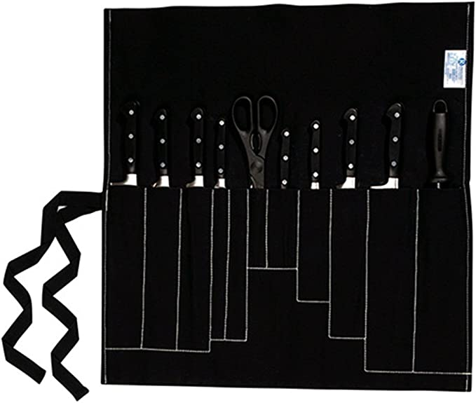 Faringdon–11bolsillo Cuchillo Roll/tipo cartera negro