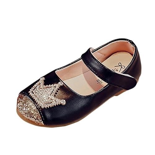 f5e589f26a8 K-youth® Sandalias de Vestir Niña Moda Zapatos Bebe Niña Verano Zapatos de Cuero  Niña Corona Zapatos Planos Zapatos de Princesa Chicas Zapatos de Baile Para  ...