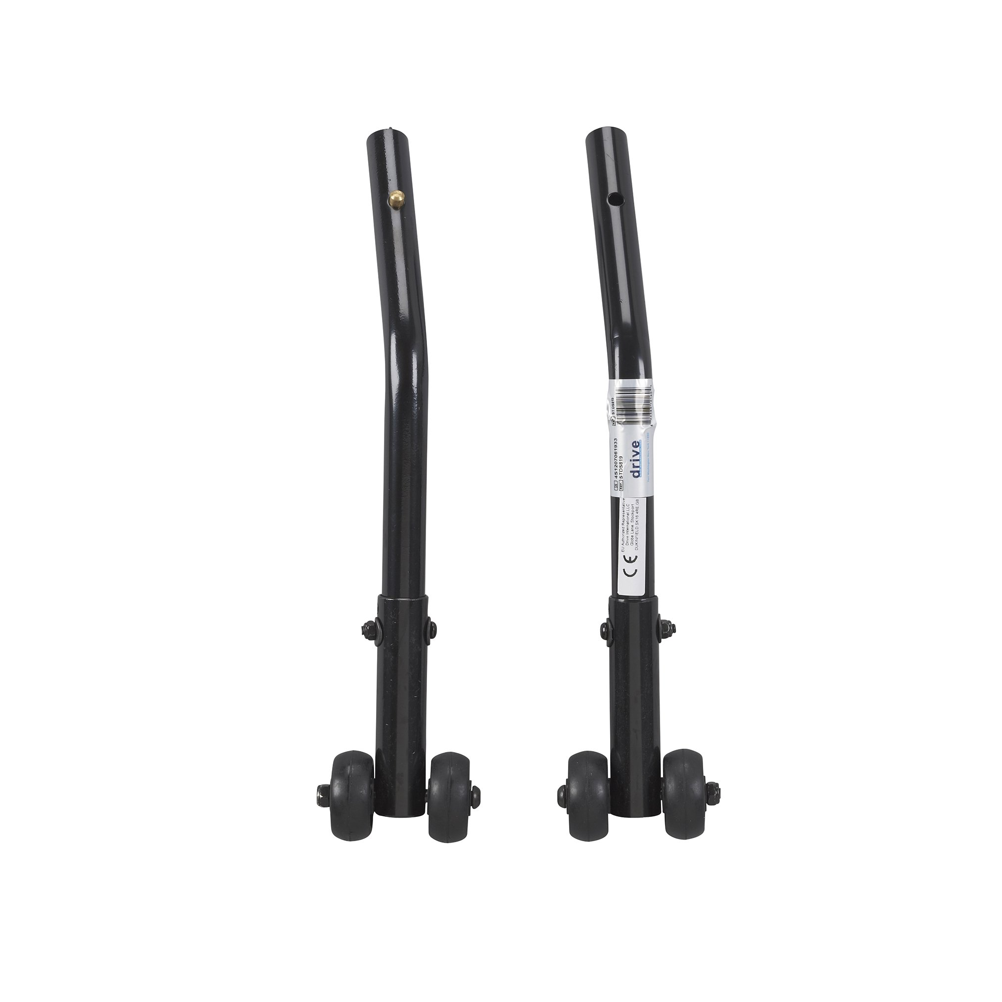 Drive Medical Cruiser III Anti Tippers with Wheels, 1 Pair