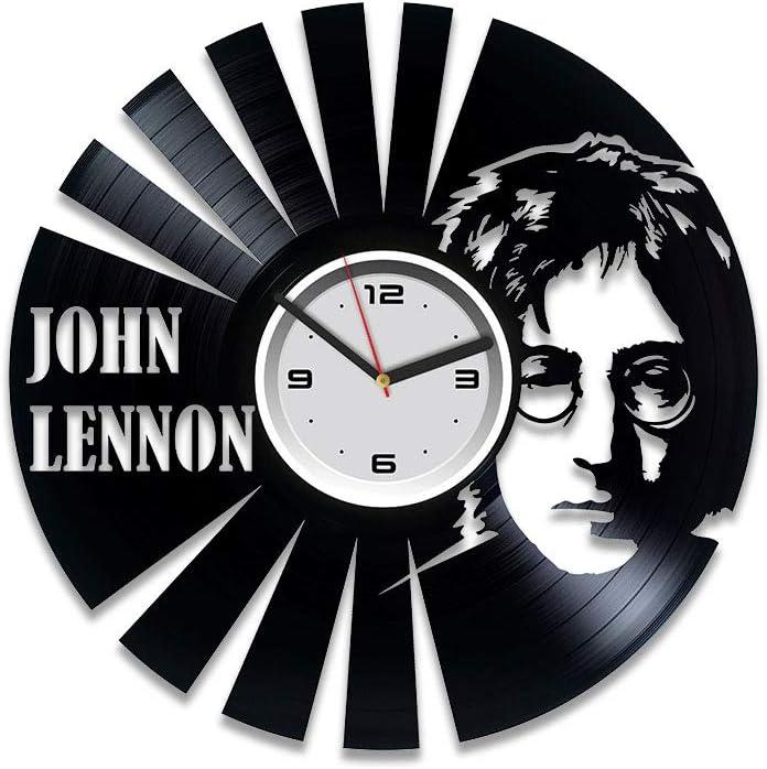 Kovides John Lennon Vinyl Record Wall Clock John Lennon Gift The Beatles Vinyl Clock John Lennon Wall Clock Vintage Beatles Vinyl Wall Clock Gift for Man Beatles Clock Beatles Gift John Lennon Clock