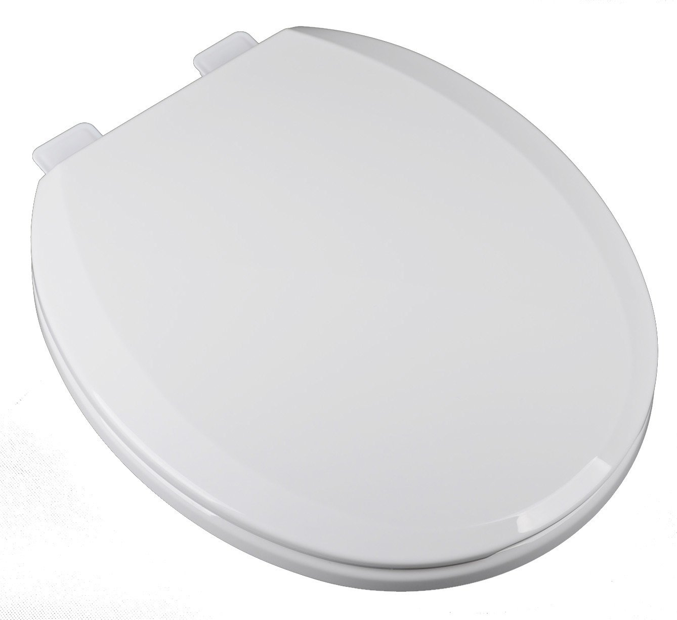 Bath Décor 2F1R7-00 Deluxe Slow Close Round Top Mount Toilet Seat with Adjustable Release and Clean Hinge
