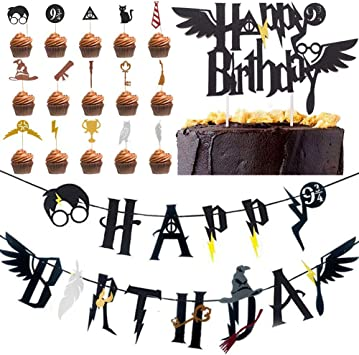 BETOY Wizard Inspired Cupcake Toppers 17PCS Harry Potter Inspired ...