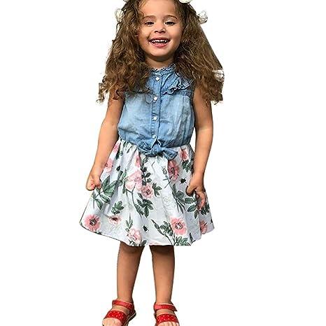 Amazon.com: EnjoCho 2019 Vestido de verano para niños, niñas ...