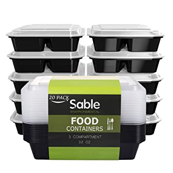 Sable Boîte Lunch Box Compartiment 20 Paquets Meal Prep Food Container 1L,  Boîte Alimentaire 3 4cbdcf653bcf