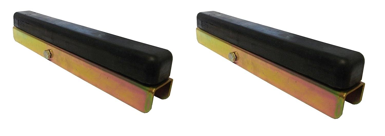 LMX1505 leisure MART 2 x Side buffer channel boat trailer brackets and rubber buffers Pt no