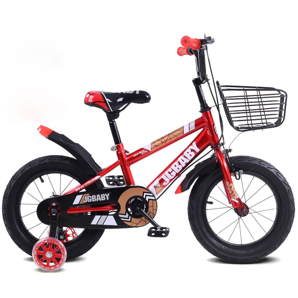 子供の自転車2-5-8歳の男性と女性のベビーカー12インチ/ 14インチ/ 16インチの子供3輪ペダル自転車赤 ( Size : 14 inchesd ) B07DQLGS5Y