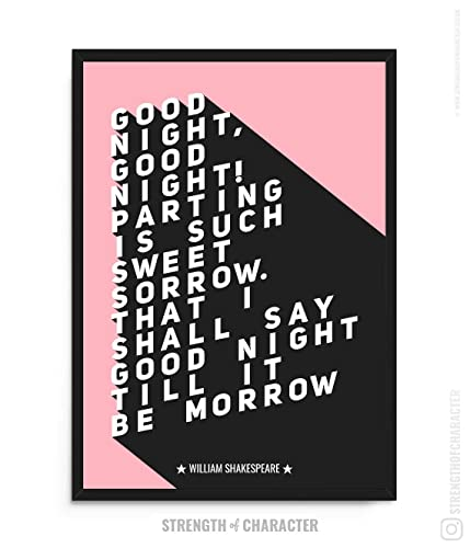 Romeo and Juliet Shakespeare Typography Poster Quote Home Wall Art