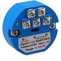 Yibuy DC 24V PT100 Sensor de Temperatura transmisor