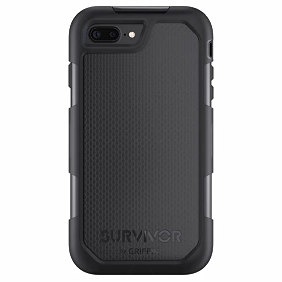 timeless design a167c 58adc Griffin Survivor Extreme iPhone 7 Plus Rugged Case - Impact Resistant Case  with Holster, Black