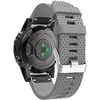 AchidistviQ 20mm weiche Silikon-Ersatzarmband-Armbanduhr für Garmin Fenix 5s