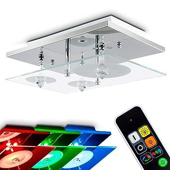 RGB LED Decken Beleuchtung Flur Lampe Spot Strahler Farbwechsler FERNBEDIENUNG