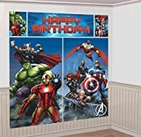 Marvel Avengers Scene Setter Wall Decorations Kit - Kids Birthday and Party Supplies Decoration