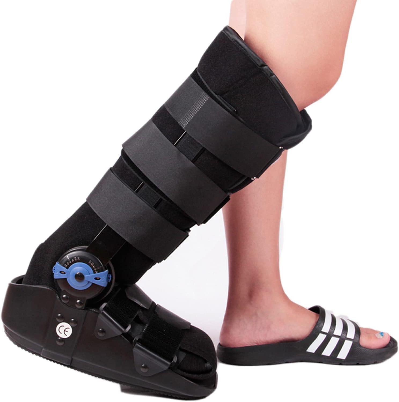 Bota De Aire Ortopédica para Caminar Andador Neumático 17 Pulgadas Cómodo Transpirable para Lesiones Tobillo Esguinces Soportes Ortesis Rodilla Inflables,S