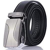 Gugio Cinturón Hombre Cinturón de Hebilla Automática de Cuero Sintético