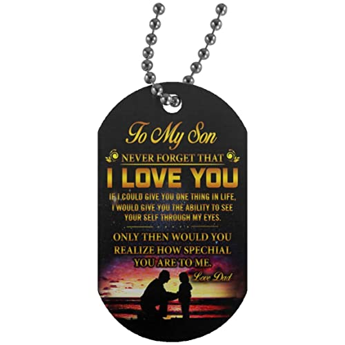 Amazon customized son dog tag from dad necklace military mens customized son dog tag from dad necklace military mens jewelry give son the ability to solutioingenieria Image collections