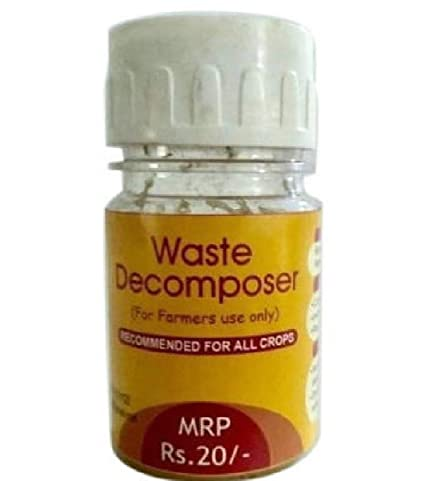Organic Waste Decomposer 30mg per Bottle (30 mg x 10 Bottles) Pack of 10 Bottles Manufactured Under License from NCOF, Govt of India. Price Includes Taxes & Packing.