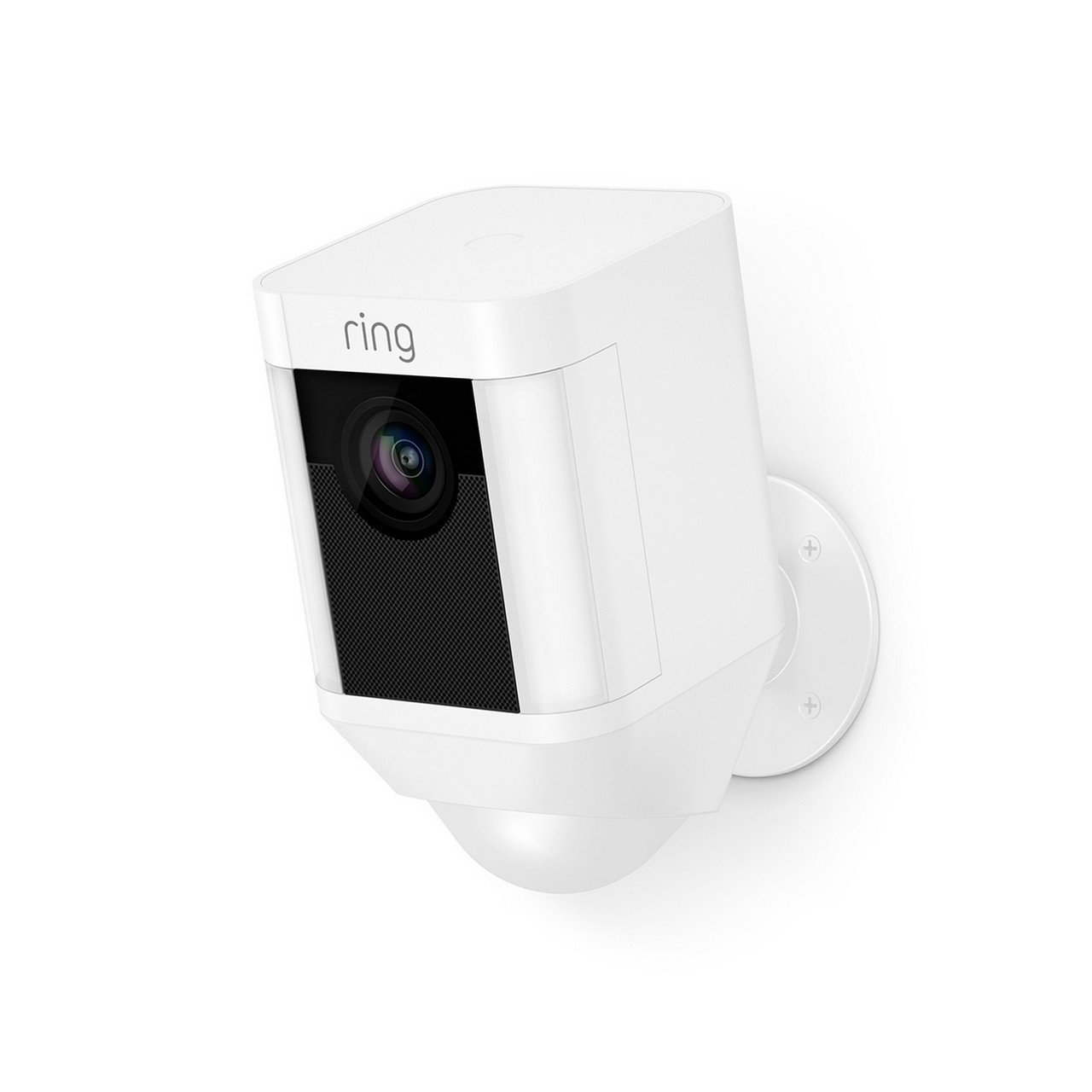 Ring Spotlight Cam Battery, HD Rechargeable Two Way Security Camera White by Ring