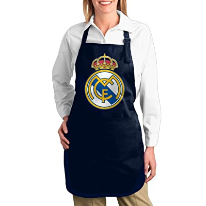 cheenn Unisex lienzo UEFA Real Madrid CF Logo barbacoa delantal