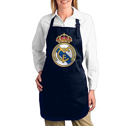cheenn Unisex lienzo UEFA Real Madrid CF Logo barbacoa delantal