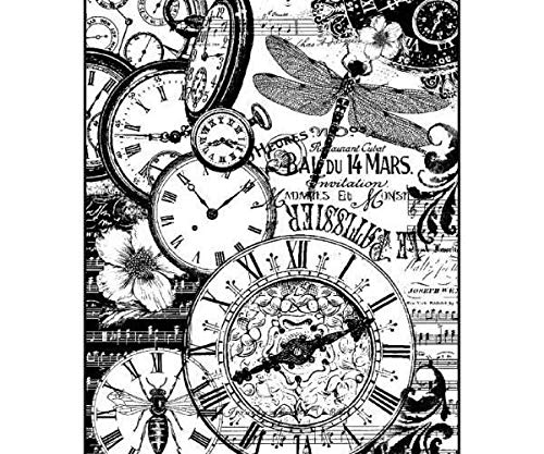 Vintage Royalty Free Images - Rice Paper Clock Vintage, Stamperia, A4, Rice Decoupage, Hobby Stock Photo, Picture and Royalty Free Image