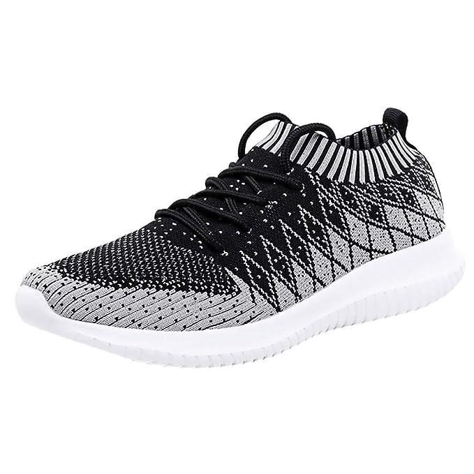 Btruely Zapatos Casuales de Hombres Zapatillas Ultra Ligeras Tejidas Zapatillas de Correr Casual Calzado de Deporte Transpirables Zapatos Deportivos con ...