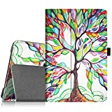 Fintie Samsung Galaxy Tab A 8.0 Folio Case - Slim Fit Premium Vegan Leather Cover for Samsung Tab A 8-Inch Tablet SM-T350 (with Auto Sleep/Wake Feature), Love Tree