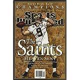 Drew Brees Sports Illustrated Championship Commemorative Poster