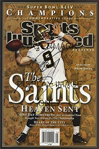 Drew Brees Sports Illustrated Championship Commemorative Poster