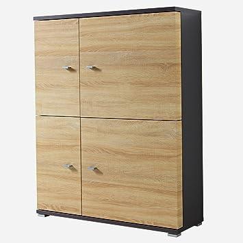 Sts Supplies Ltd Kommode Sonoma Eiche Sideboard Wohnzimmer