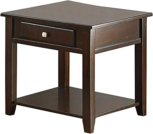 Benjara Square Wooden End Table