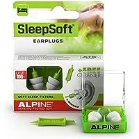 Alpine SleepSoft Tapones para los oídos para dormir - Bloquea los ronquidos y mejora el sueño - Filtros suaves diseñados…