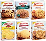 KRUSTEAZ Cookie Mix Variety Pack - Bundle of 6 Different Flavors - Triple Chocolate, Snickerdoodle, Peanut Butter, Meyer Lemon, Butter Vanilla, Oatmeal. Snack Pack, Care Package