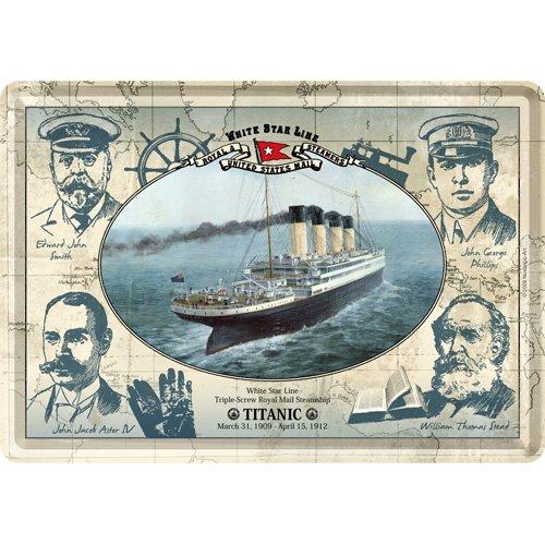 Nostalgic-Art-bilderpalette 16612 Ships et Sea Titanic /équipe blechpostkarte 10 x 14 cm