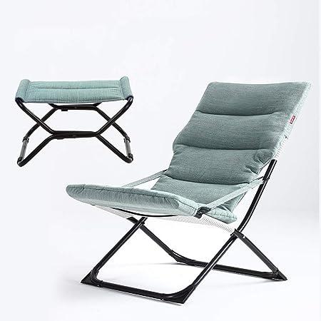 Sillas reclinables reclinables con tumbonas para el Sol Jardín Exterior Relajante para Patio con cojín (Color : Blue): Amazon.es: Hogar