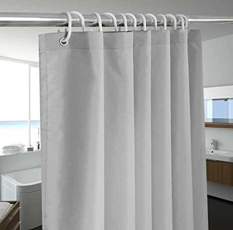Grey Gray Shower Curtains For Bathroom Solid Color Stall Size 54