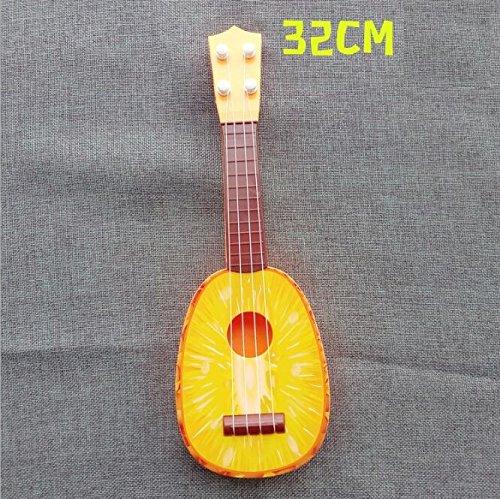 EoamIk Instruments de bébé Créativité Fruit Instrument Simulation Guitare Ukulélé Musical Accessoires Fournitures de Jouets (Ananas)