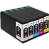 LxTek Compatible Cartuchos de tinta Reemplazo para 79XL (2 Negro, 1 Cian, 1 Magenta, 1 Amarillo) para Workforce Pro WF-4630DWF WF-4640DWF WF-5110DW WF-5620DWF WF-5690DWF, WorkForce WF-5190DW Impresora