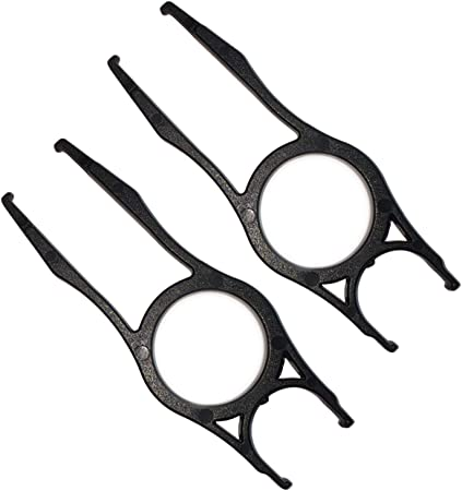 2Pcs Steel Wire Keycap Puller Remover Tool,Black Color