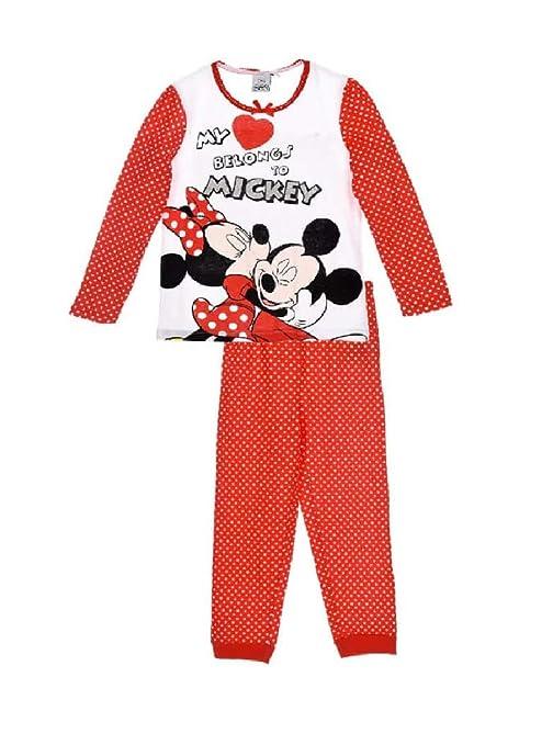 taglia 40 9b5ec 4519a Disney Pigiama in Cotone Due Pezzi Minnie e Topolino -3 4 6 ...