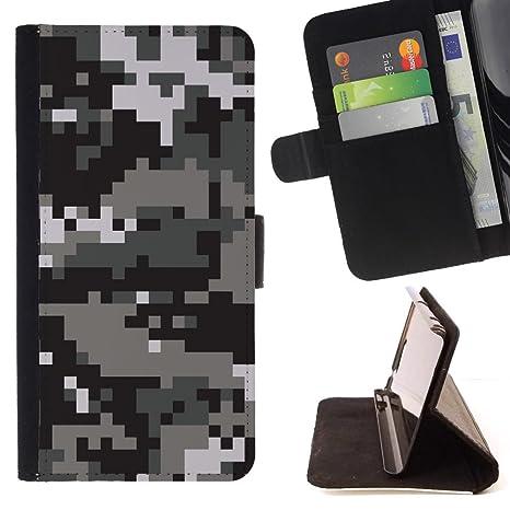 STPlus Patrón de camuflaje camo digital (Negro) Monedero ...