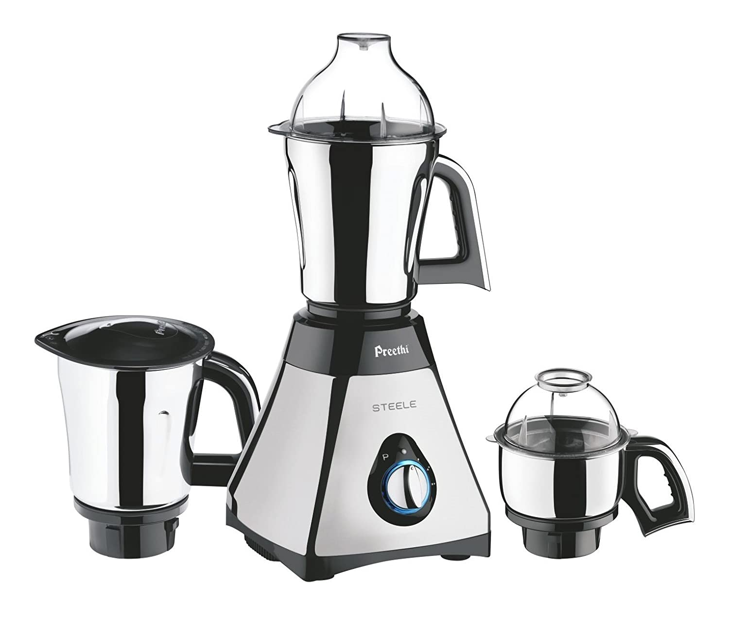 Preethi Steele Mixer Grinder with Turbo Vent and Improved Couplers