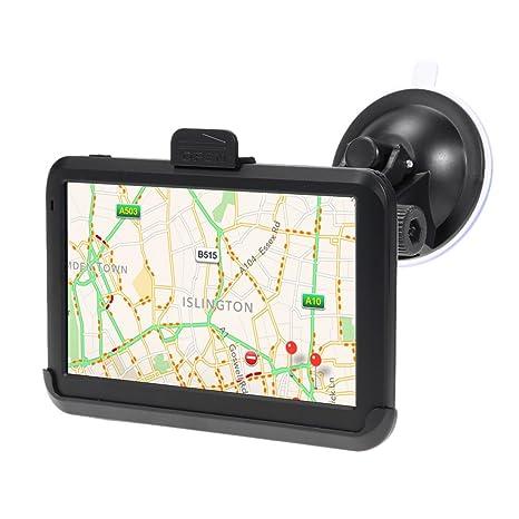 Amazingdeal365 Navegador GPS para Coches 7 Pulgadas Portátil 4GB FM para Coche de Mapa de Europa