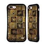 Official HBO Game of Thrones All Houses Golden Sigils Hybrid Case for iPhone 7 Plus/iPhone 8 Plus