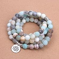 Bracelet Mala Amazonite 108 perles