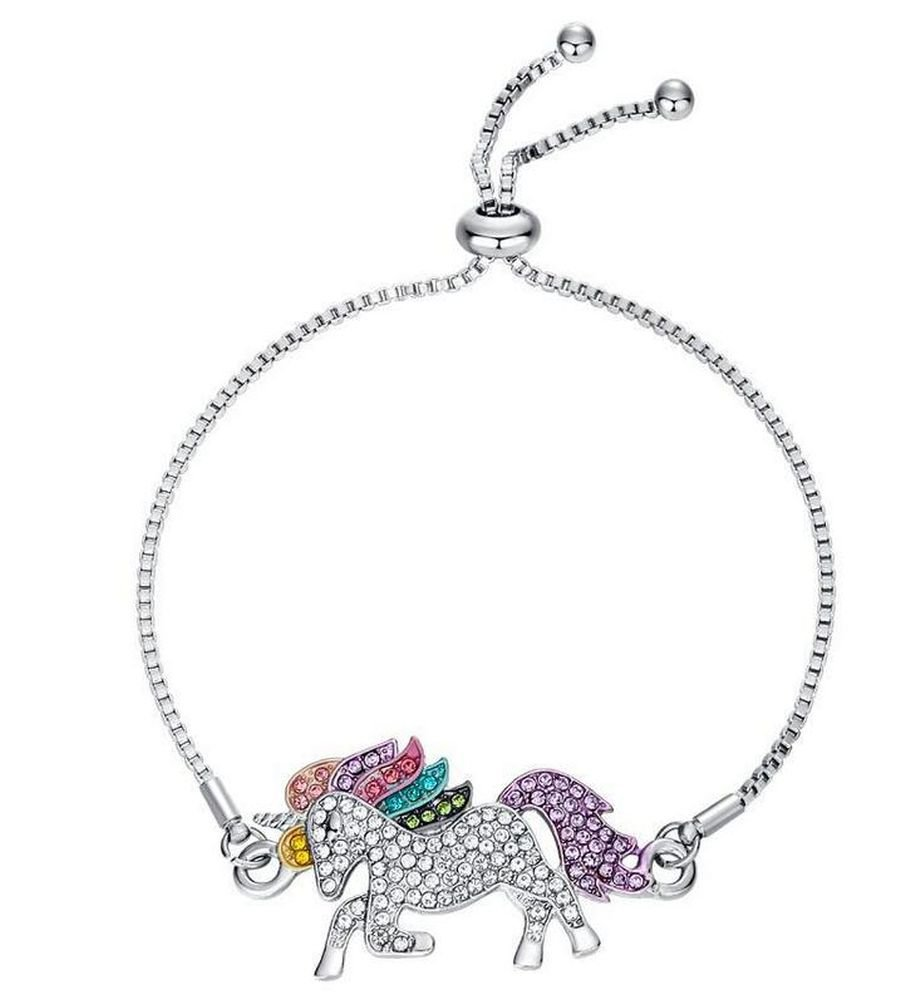 elementact Unicorn Rainbow Bracelet Little Pony Birthday Gifts for Women Girl 3