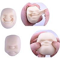 presser Boule de visage humain Emotion Vent le stress soulager Adulte de décompression jouet Couleur aléatoire